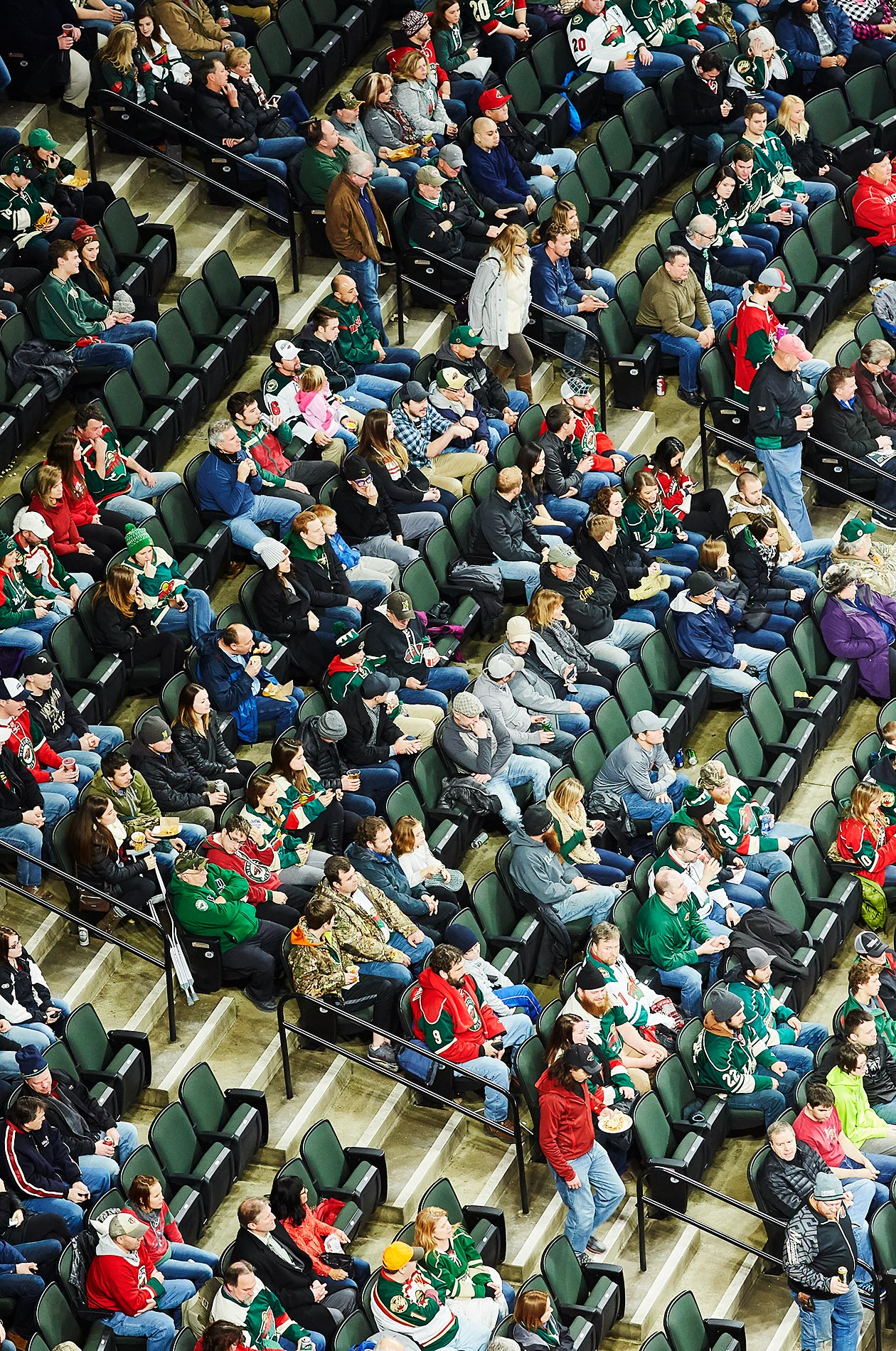 Xcel Center crowd - Steve Craft Photography - Phoenix Arizona Commercial Photographer